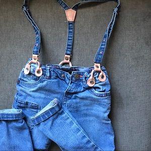 Zara Denim Suspenders 2/3